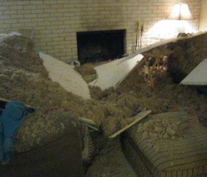 Ceiling Collapse in Albuquerque Home Before