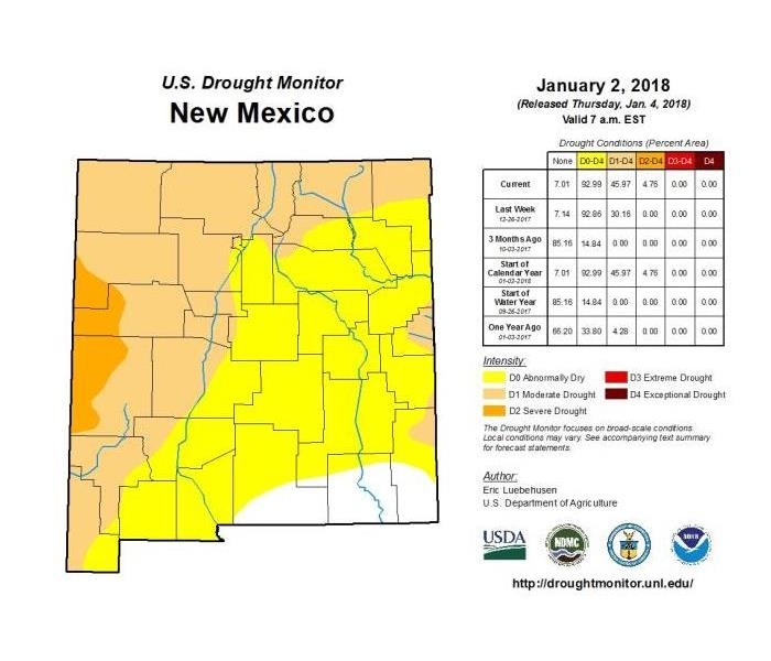 Drought Forming In Parts Of New Mexico Servpro Of Ne